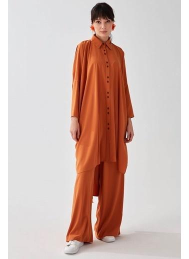 Vivencia Tunik Pantolon Rahat Mavi Takım Oranj